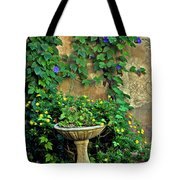 Morning Glory Garden In Provence Tote Bag