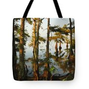Morning In The Swamps Tote Bag