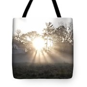 Morning Light At Valley Forge Farm Tote Bag