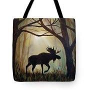 Morning Meandering Moose Tote Bag