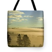 Morning Mist Over Trees, New Glasgow Tote Bag