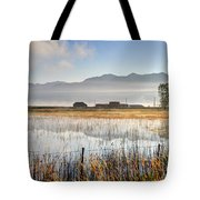 Morning Mists Of Cutler Marsh - Utah Tote Bag