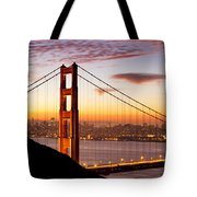 Morning Over San Francisco Tote Bag