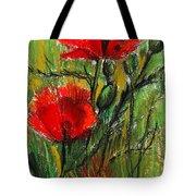 Morning Poppies Tote Bag