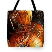 Morning Pumpkins Tote Bag