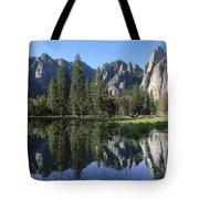 Morning Reflection At Yosemite Tote Bag