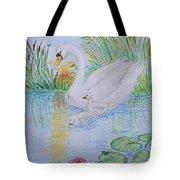 Morning Swim I  Original Colored Pencil Drawing Tote Bag