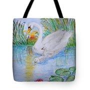 Morning Swim II  Edited Original Art Tote Bag
