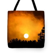 Morning's Mysterious Sunrise Tote Bag