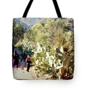 Moroccan People And Cacti Tote Bag