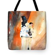 Moroccan Woman Carrying Baby Tote Bag