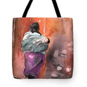 Moroccan Woman With Baby Detail Tote Bag
