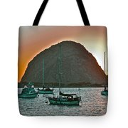 Morro Bay Rock Tote Bag