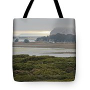 Morro Rock From The Elfin Forest Tote Bag