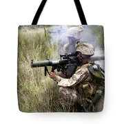 Mortarman Fires An At4 Anti-tank Weapon Tote Bag by Stocktrek Images
