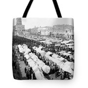 Moscow Russia - The Great Sunday Market - C 1898 Tote Bag