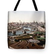 Moscow Russia On The Moskva River - Ca 1900 Tote Bag
