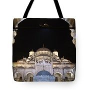 Mosque Yeni Camii At Night Tote Bag