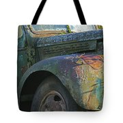Moss Covered Truck Tote Bag