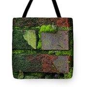 Mossy Brick Wall Tote Bag