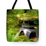 Mossy Japanese Garden Lantern Tote Bag