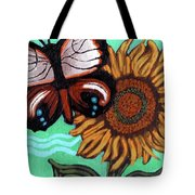 Moth And Sunflower Tote Bag