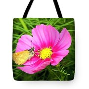 Moth On A Cosmos Tote Bag