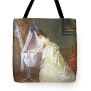 Mother And Baby Tote Bag by Fritz Paulsen