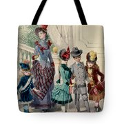 Mother And Children In Indoor Costume Tote Bag