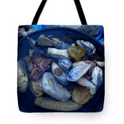 Mother Earth Stones Reloeding Fullmoon Energy In Ice Cold Water Tote Bag