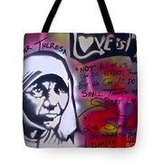 Mother Theresa Living Simply Tote Bag
