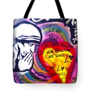 Mother Theresa Praying Tote Bag