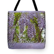 Mother's Day Card - Purple Wisteria Tote Bag