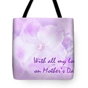Mother's Day Greeting Card - African Violets Tote Bag