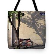 Motorcycle And Tree. Belgrade. Serbia Tote Bag