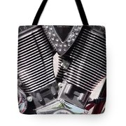 Motorcycle Engine Chrome Tote Bag