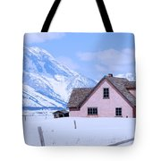 Moulton House In Winter Tote Bag