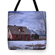 Moulton's Pink House On Mormon Row Tote Bag