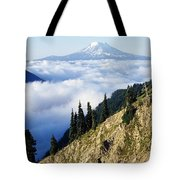 Mount Adams Above Cloud-filled Valley Tote Bag
