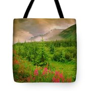 Mount Amery And Fireweed Tote Bag