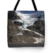 Mount Andromeda And Athabasca Glacier Tote Bag