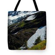 Mount Baker Floral Bouquet Tote Bag