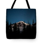 Mount Baker Starry Night Tote Bag