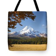 Mount Hood And Autumn Colours In Hood Tote Bag