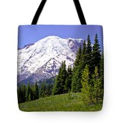 Mount Rainier X Tote Bag