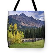 Mount Sneffels And Fence Tote Bag