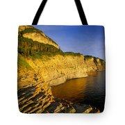Mount St Alban Cliffs At Sunset Tote Bag