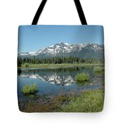 Mount Tallac Sky Projections Tote Bag