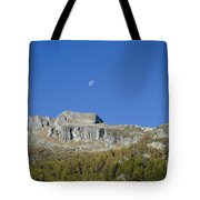 Mountain And Moon Tote Bag