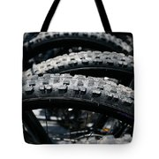 Mountain Bike Tires Tote Bag